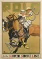 OSCAR RABE HANSON (1901-1926). POLO / BY THE NORTH SHORE LINE. 1923. 41x28 inches, 104x71 cm. National Printing & Eng. Co., Chicago.