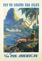 PAUL GEORGE LAWLER (DATES UNKNOWN). FLY TO THE SOUTH SEA ISLES / VIA PAN AMERICAN. Circa1938. 41x27 inches, 104x68 cm.