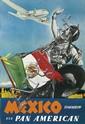 PAUL GEORGE LAWLER (DATES UNKNOWN). MEXICO TOMORROW / VIA PAN AMERICAN. Circa 1940. 41x27 inches, 104x68 cm.