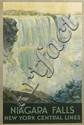 FREDERIC MADAN (1885-1972). NIAGARA FALLS / NEW YORK CENTRAL LINES. Circa 1928. 40x27 inches, 103x68 cm. Latham Litho & Ptg. Co., Long