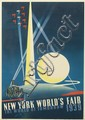 JOSEPH BINDER (1898-1972). NEW YORK WORLD'S FAIR. 1939. 20x13 inches, 50x34 cm. Grinnell Litho. Co., Inc., N.Y.C.