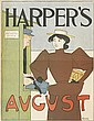 EDWARD PENFIELD (1866-1925). HARPER'S AUGUST. 1894. 16x12 inches, 40x30 cm.