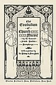 LOUIS J. RHEAD (1858-1926). THE EVOLUTION OF CHURCH MUSIC. 1896. 17x11 inches, 45x19 cm. Charles Scribner's Sons, New York.