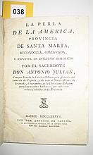 (COLOMBIA.) Julian, Antonio. La perla de la America, Provincia de Santa Marta.