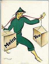 OTTO EXINGER (1897-1957). MEINL TEE. Window card. 1927. 23x17 inches, 57x44 cm. Papier u. Blechdruck-Industrie, Vienna.