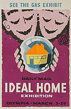 Daily Mail 'Ideal Home Exhibition',  'See the Gas Exhibit', coloured lithographic poster  76