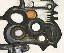 *David Carr (1915-1968)  ABSTRACT FORMS  Oil on board  76 x 92cm, unframed     *
