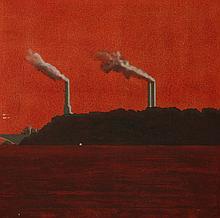 Daniel Lang (British, 20th century)  BATTERSEA POWER STATION, 1969  Oil on canvas  101 x