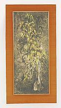 ... Sarvniya (Indian, 20th century)   STILL LIFE   With label verso 'Chermould 12-7, Park St