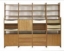 A 'Summa' teak modular stacking storage unit,  designed by Terence Conran, comprising twelve uni