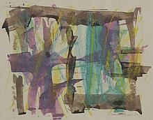 *William Gear RA (1918-1997)  UNTITLED   Signed and dated 1957 in pencil, coloured ink and w
