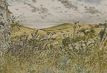 *Barry Kirk (b.1933)  LANDSCAPE AT WORTH MATRAVERS  Signed l.l., watercolour  29 x 40.5c