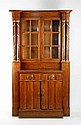 A Continental rosewood cabinet, in the