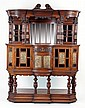 An Arts and Crafts mahogany buffet, the raised