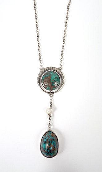 A German Arts & Crafts Edna May style turquoise