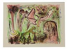 Manner of Marc Chagall, A DREAM Lithograph 62 x