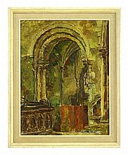 *Anne Redpath (1895-1965), CHURCH INTERIOR, LISBON