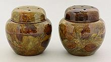 A matched pair of Royal Doulton stoneware