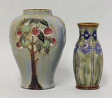 Two Royal Doulton stoneware vases, a baluster