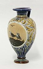 A Doulton Lambeth vase, dated 1887, by Florence E