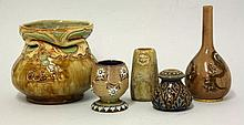 A collection of five Doulton Lambeth and Royal