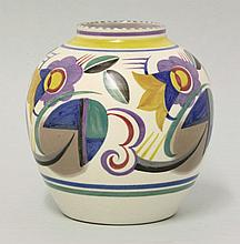 A Poole Pottery vase, TJ pattern, by Marjorie