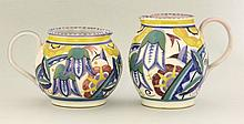 Two Poole Pottery jugs, with bluebell designs, 12