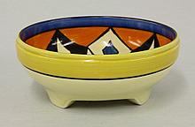 A Clarice Cliff 'Diamond' bowl, shape no. 357,