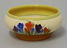 A Clarice Cliff 'Autumn Crocus' bowl, printed