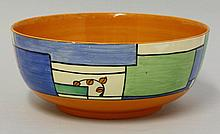 A Clarice Cliff 'Branches and Squares' bowl, in