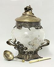 A WMF silver-plated punch bowl and cover, the