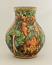 A Moorcroft 'Flames of the Forest' vase, 1999,