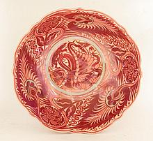 A William de Morgan bowl, decorated by Fred