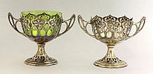 A pair of WMF silver-plated twin-handled bowls,