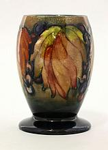 A Walter Moorcroft 'Leaf and Berry' flambé vase,