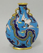 A Minton pilgrim flask, attributed to Dr