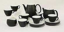 A Rosenthal 'Charcoal' tea set, designed by