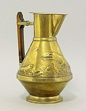 A brass water jug, in the manner of Dr Christopher