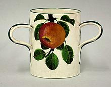 A Wemyss 'Apple' tyg, painted with apples on