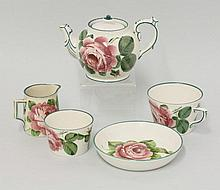 A Wemyss pottery 'Wild Rose' matched tea set for
