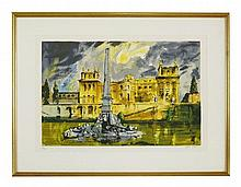 *John Piper CH (1903-1992), THE DUCHENE FOUNTAIN,