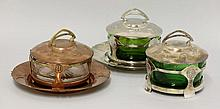 Three WMF silver-plated, copper and brass bowls,