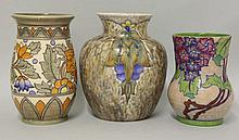 A Crown Ducal vase, designed by Charlotte Rhead,