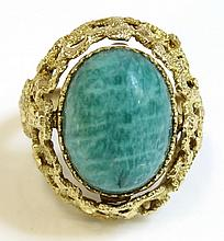 A Spanish swivel head amazonite and cultured pearl