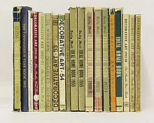Twenty-one books and pamphlets on modern furniture