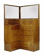 An Art Deco walnut bedroom suite, by The Rowley