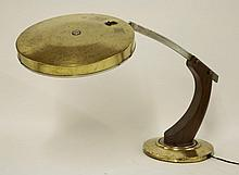A Fase Lupela 'President' desk lamp, in wood,
