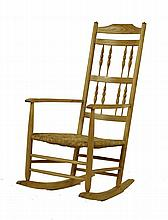 A Neville Neal ash rocking chair, after a design