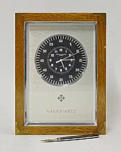 A modern Patek Phillippe 'Naviquartz' clock, in a