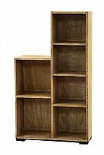 A limed oak bookcase, with six shelves, 59cm wide